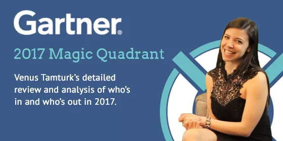 - Gartner Magic Quadrant for WCM 2017 ... Who's In Who's Out?: It is that time of year again when Gartner migrates those little dots around to guide companies that are in the process of evaluating a Web Content Management solution for their business, by providing an in-depth analysis of leading vendors. This article will not only discuss who's in, who's out, and who jumped from one category to another over the past year but it will also include exclusive comments from the leading vendors' execs on their inclusion as well as the cautions that the Gartner analysts