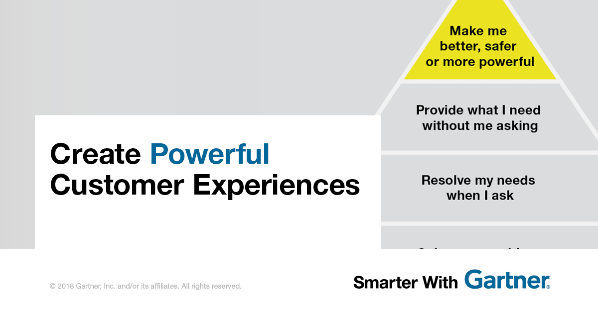 - Create Powerful Customer Experiences: How marketers can move up the customer experience pyramid to drive loyalty, satisfaction and advocacy