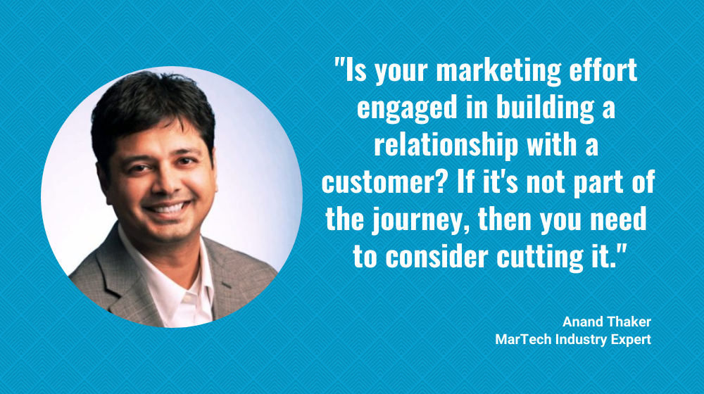 - MarTech Insider Anand Thaker: Marketing Not Aimed at Building Real Relationships with Customers? Cut It.: Great talk by Brent Leary with Anand Thaker about the changing marketing strategy in times of Covid-19 and Customer Experience.